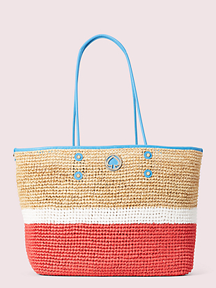 straw large tote by kate spade new york non-hover view