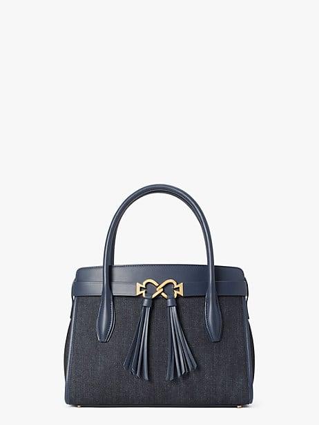toujours denim medium satchel by kate spade new york