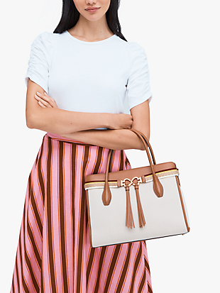toujours canvas large satchel by kate spade new york hover view