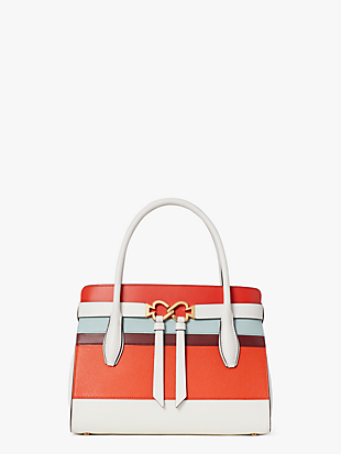 toujours stripe medium satchel by kate spade new york non-hover view