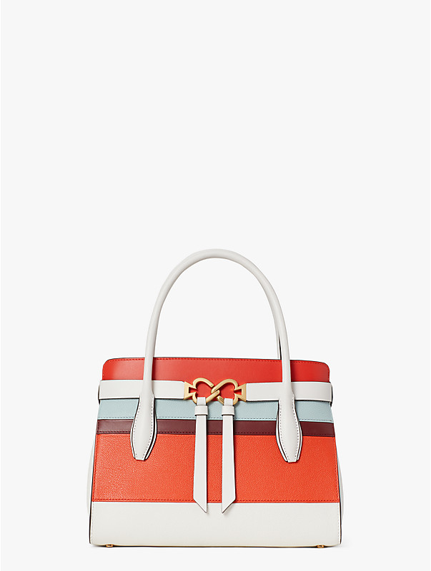 toujours stripe medium satchel, , rr_large