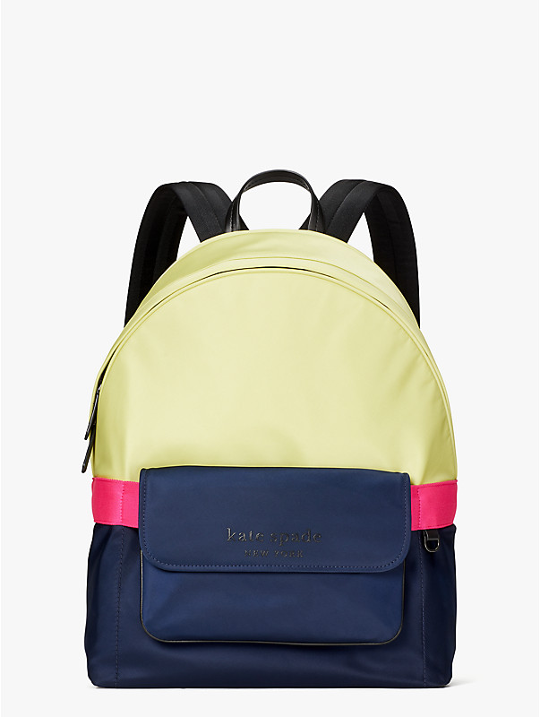 journey colorblock nylon large backpack, , rr_large