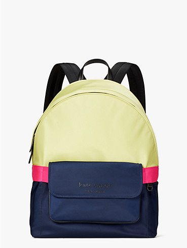 journey colorblock nylon large backpack, , rr_productgrid