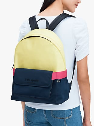 journey colorblock nylon large backpack by kate spade new york hover view