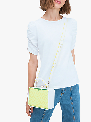 vanity see-through mini top-handle bag by kate spade new york hover view