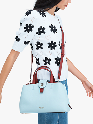 essential large satchel by kate spade new york hover view