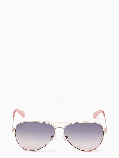 reatha sunglasses, pink, large by kate spade new york