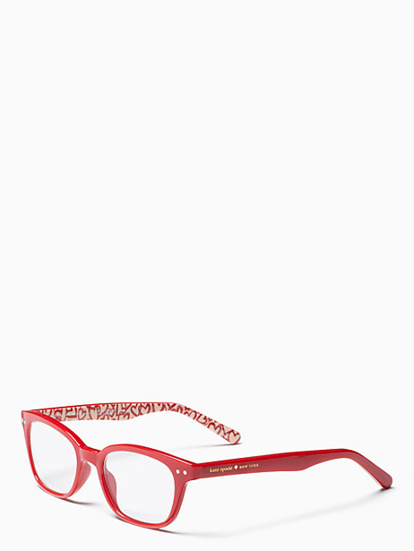 rebecca readers, red, large by kate spade new york