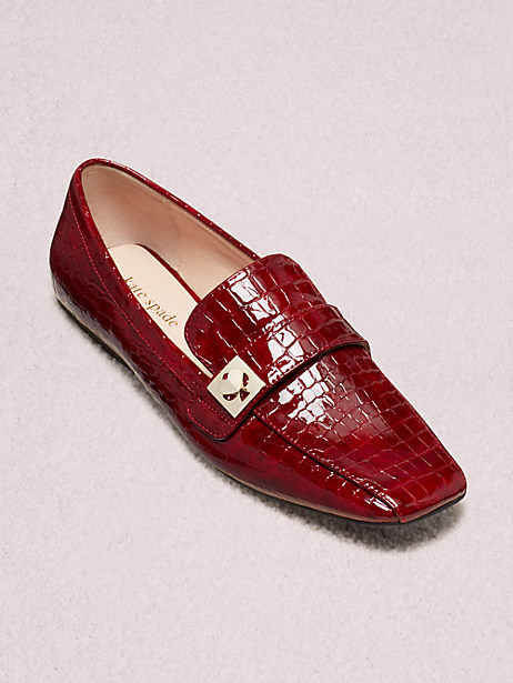 darien loafers, cherrywood, large by kate spade new york