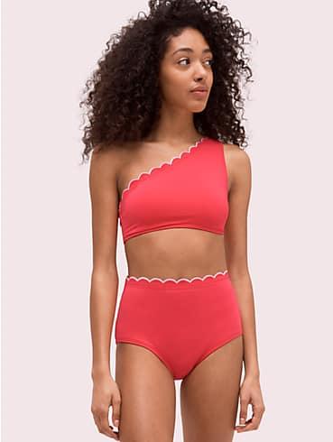 scallop wave one-shoulder bikini top, , rr_productgrid