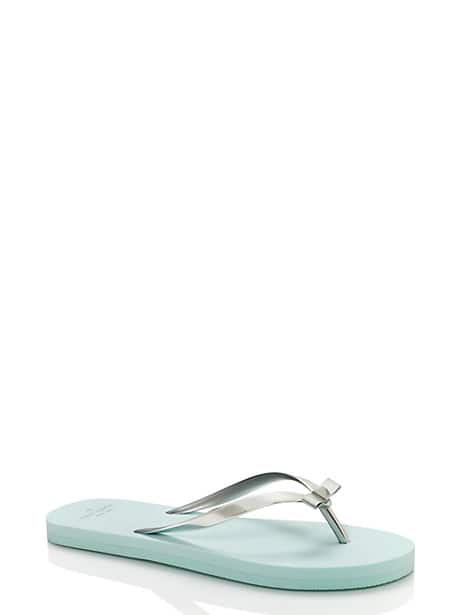 happily ever after sandals, silver/light blue, large by kate spade new york