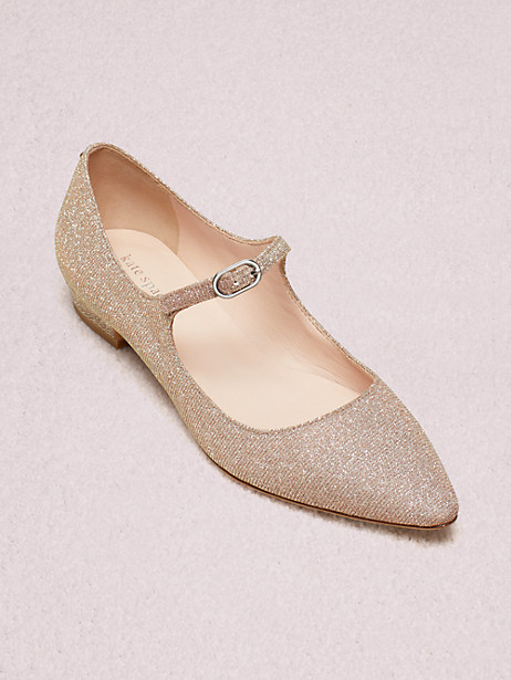 mallory flats, pink, large by kate spade new york