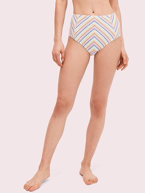 beach stripe high waist bikini bottom by kate spade new york