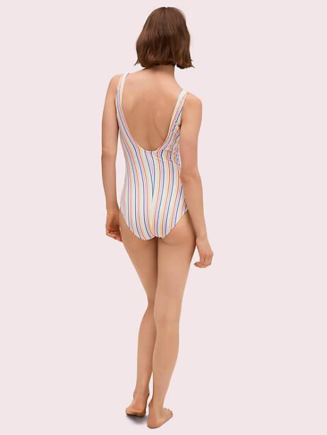 Beach stripe bunny tie one-piece   Kate Spade New York