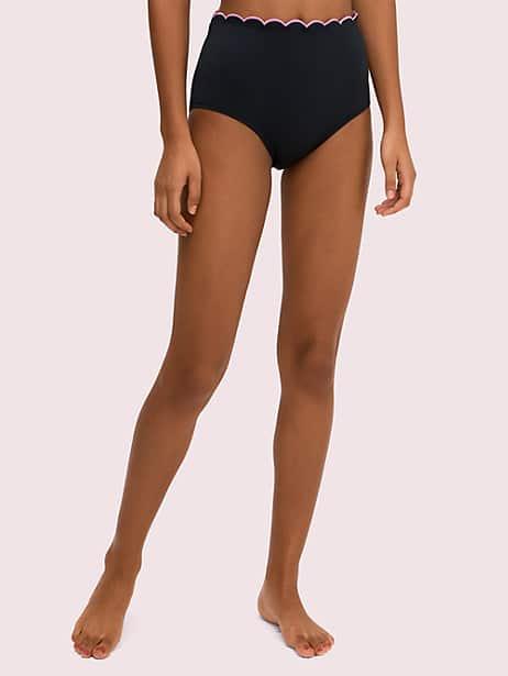 Kate spade scallop wave high-waist bottom