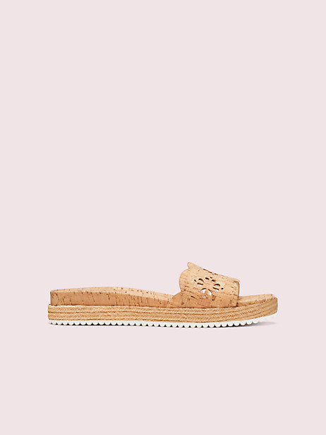 zane sandals, natural, large by kate spade new york