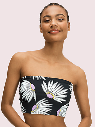 falling flower cropped bandeau bikini top by kate spade new york non-hover view