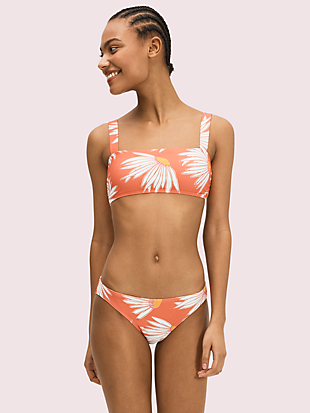 falling flower square neck bikini top by kate spade new york non-hover view