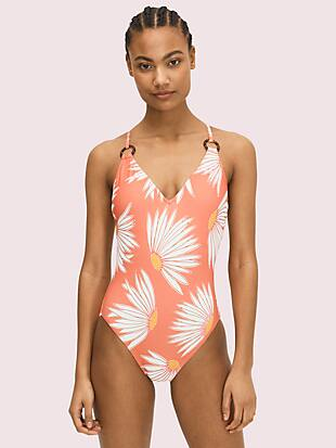 falling flower plunging v-neck one-piece by kate spade new york non-hover view