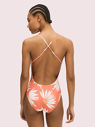 falling flower plunging v-neck one-piece by kate spade new york hover view