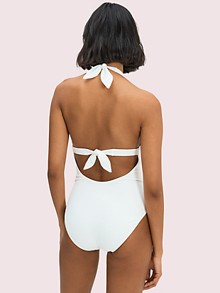 heart-buckle halter one-piece by kate spade new york hover view