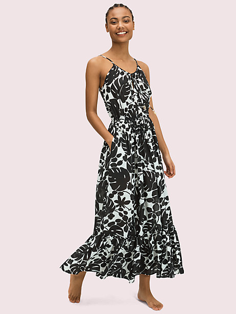 monstera grove cover-up maxi dress by kate spade new york
