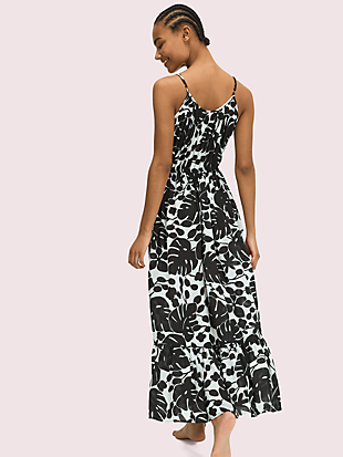 monstera grove cover-up maxi dress by kate spade new york hover view