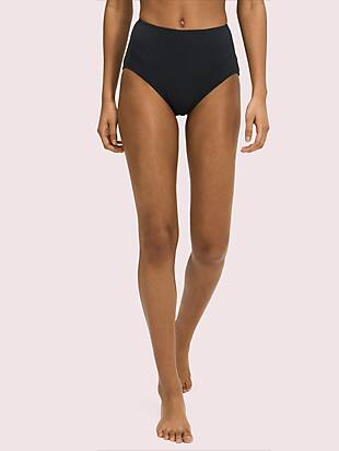 palm beach high-waist bikini bottom by kate spade new york non-hover view