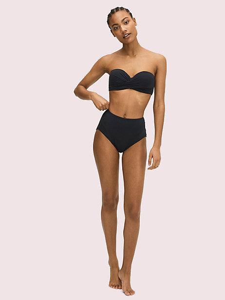 palm beach molded-cup bandeau bikini top by kate spade new york