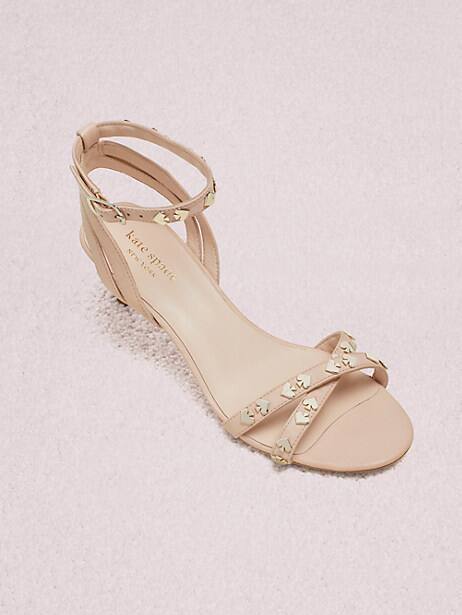 selma sandals, pale vellum, large by kate spade new york