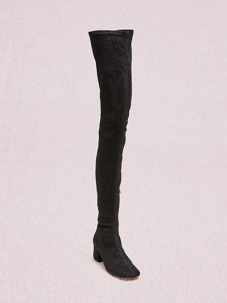 london thigh-high boots, black, large by kate spade new york