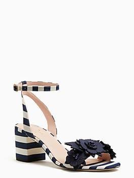 wollie sandals, white/navy, medium