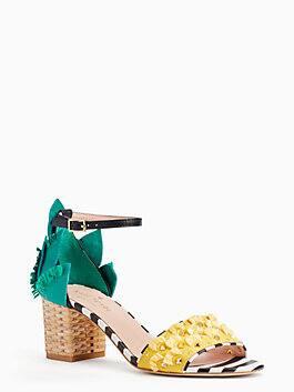wiatt heels, black/white, medium