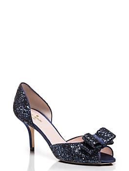 sela heels, navy glitter, medium