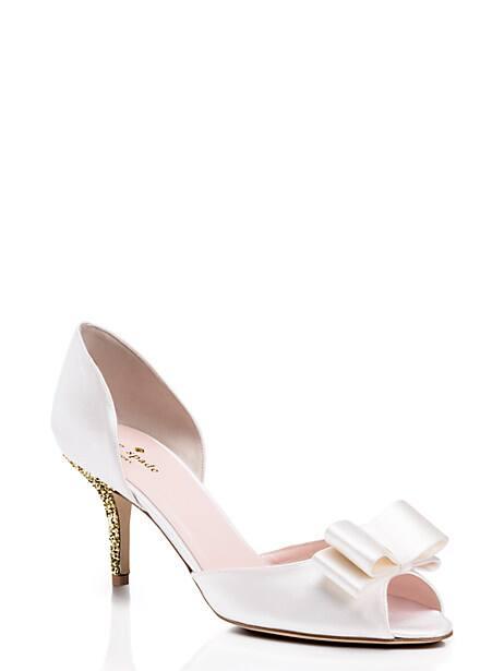 sela heels, ivory, large by kate spade new york