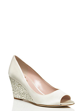 radiant wedges, ivory/silver, medium