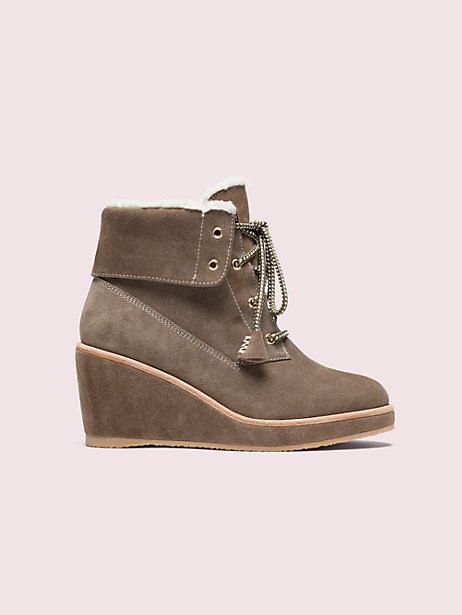 areana boots, portabella, large by kate spade new york