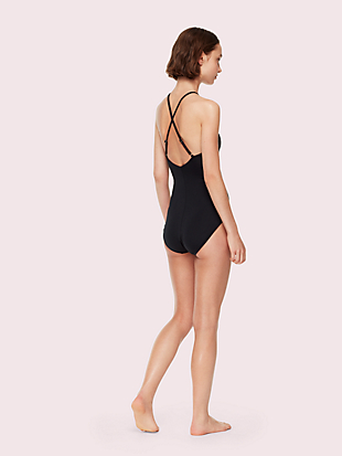 marina piccola high neck one-piece swimsuit by kate spade new york hover view