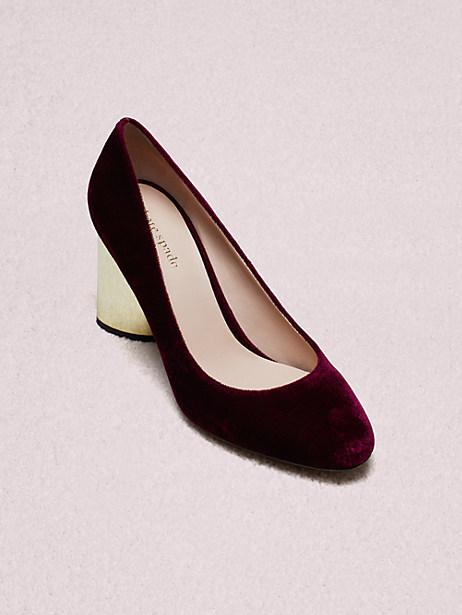 sybil pumps, cherrywood, large by kate spade new york