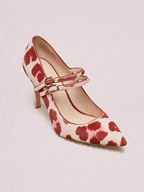 victorina pumps, light pink leopard, large by kate spade new york