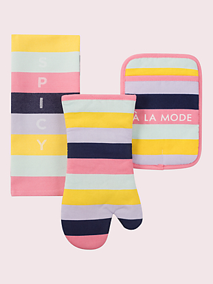 ice cream stripe kitchen set by kate spade new york non-hover view