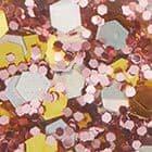 ROSE GOLD GLITTER. color