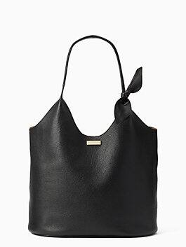 on purpose black shopper tote, black, medium