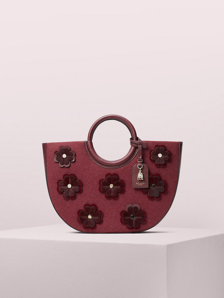 on purpose floral appliqué circle tote by kate spade new york