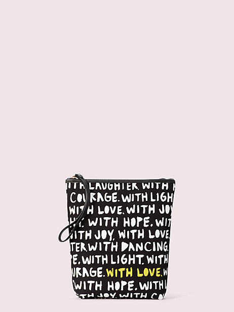 cleo wade x kate spade new york phrases pouch by kate spade new york