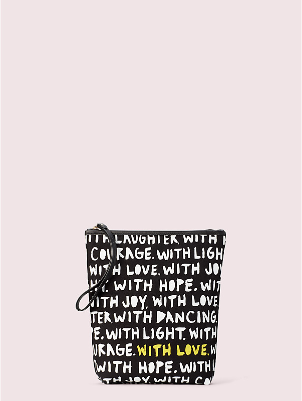 cleo wade x kate spade new york phrases pouch, , rr_large
