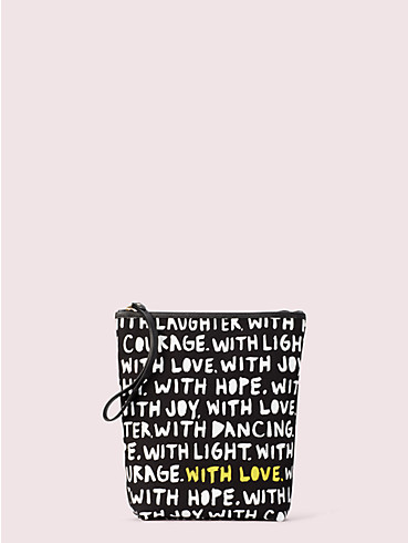 cleo wade x kate spade new york phrases pouch, , rr_productgrid