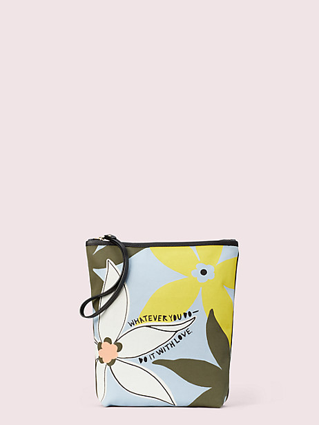 cleo wade x kate spade new york floral pouch by kate spade new york