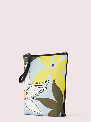 cleo wade x kate spade new york floral pouch, , rr_productgrid