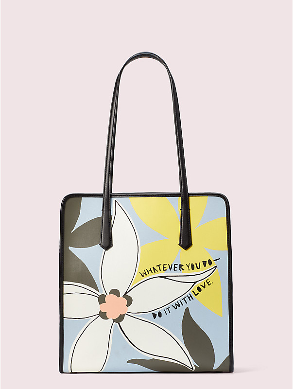 cleo wade x kate spade new york floral tote, , rr_large